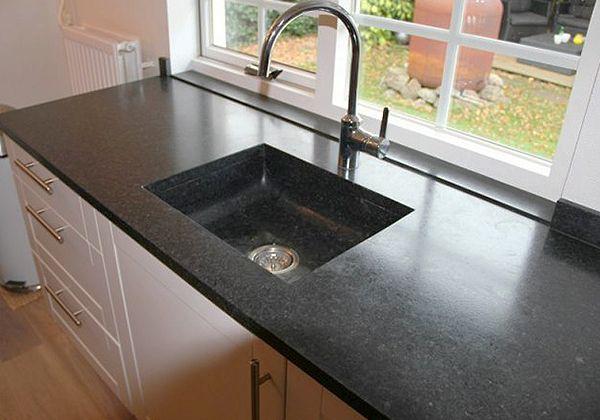 Graniet keukenblad   de jong natuursteen