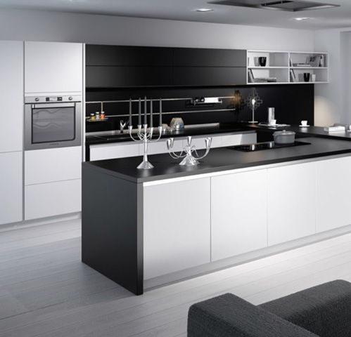3D getekende moderne keuken