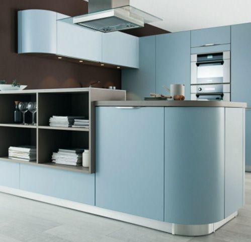 Moderne keuken ronde afwerking