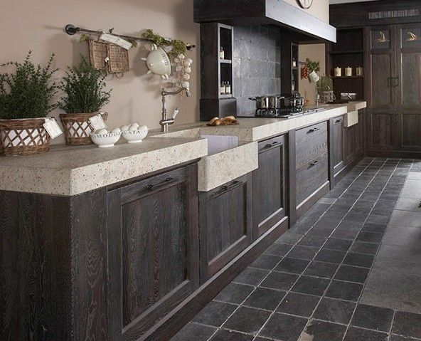 Keukens van de Jong Natuursteen te Gorredijk, keukens geheel op maat.